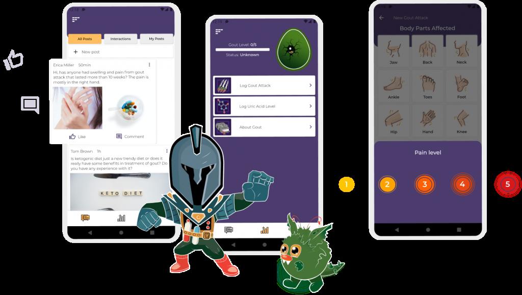 illustration of the app